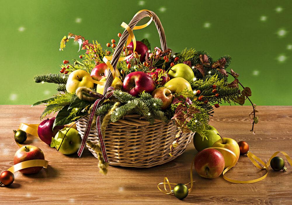 Cesto di mele natalizio LaTrentina