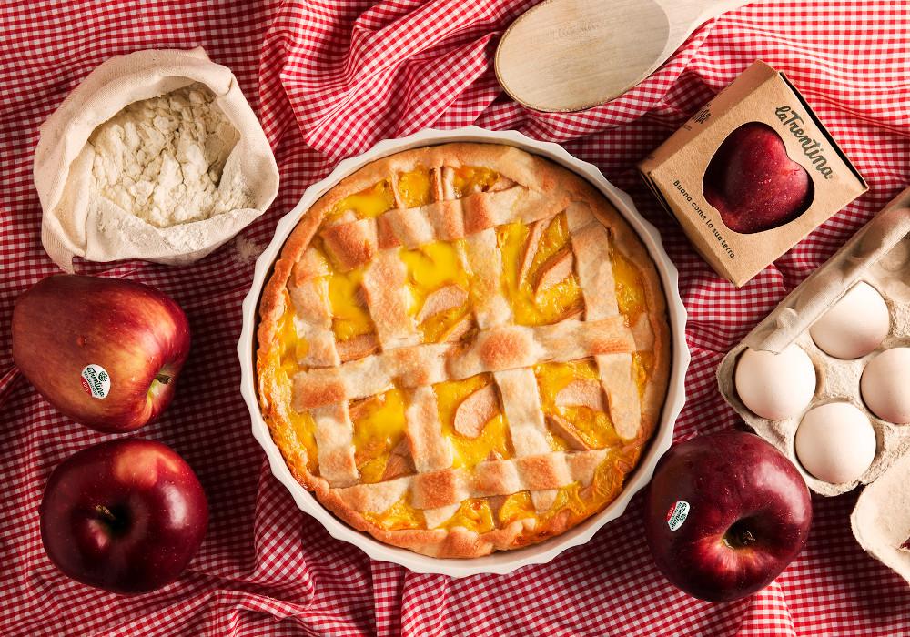 Crostata di Red Delicious con crema pasticciera
