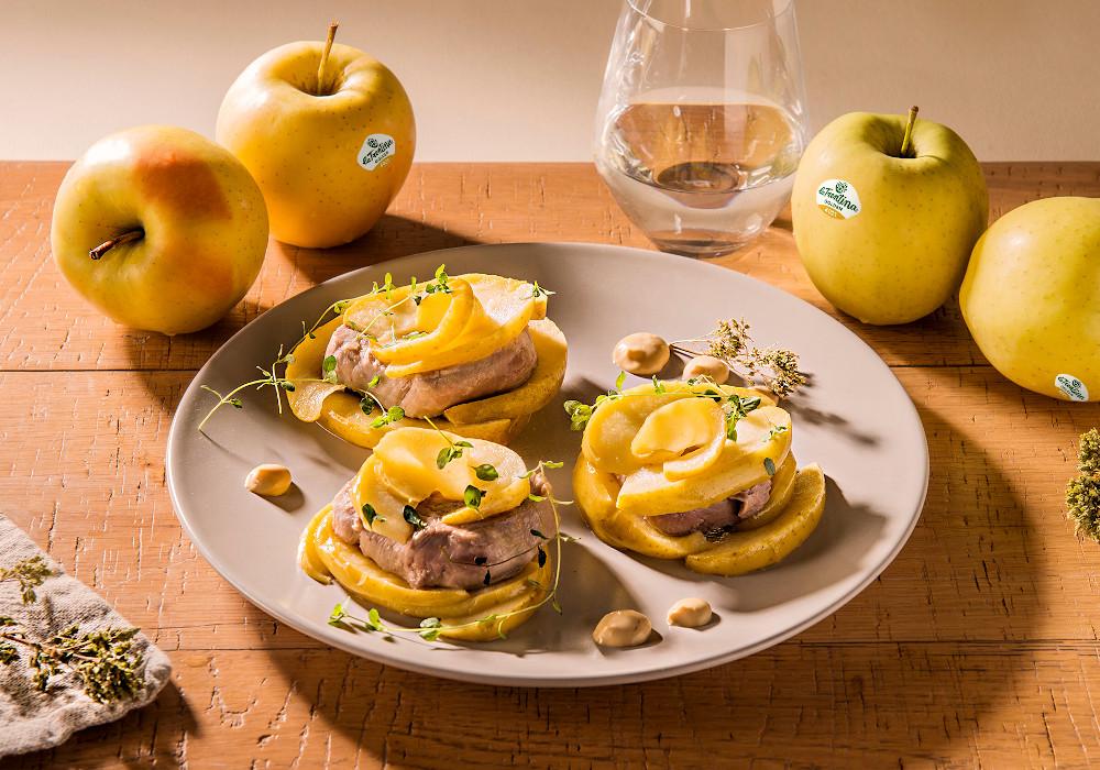 Filetto di maiale con mele Golden